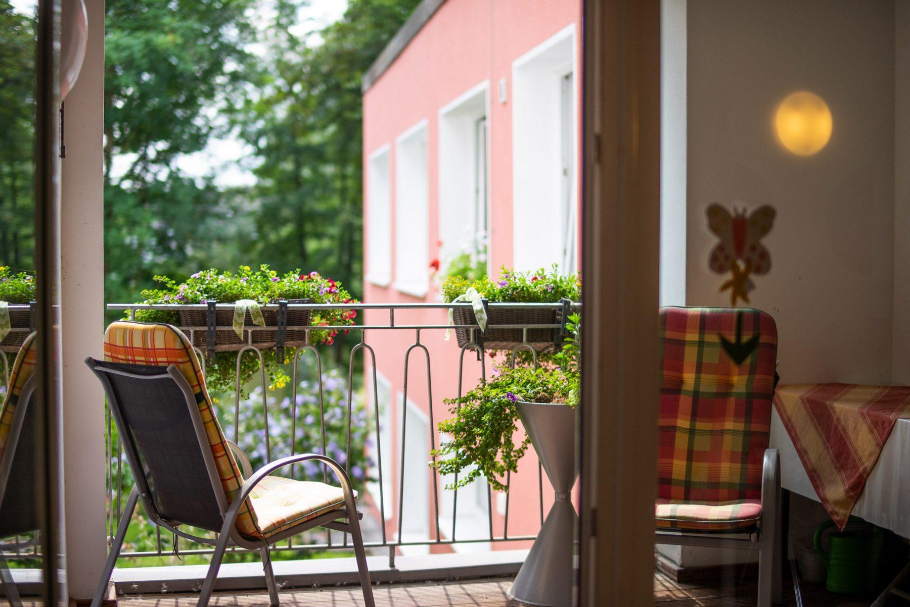 Balkon in der Seniorenwohngemeinschaft in Horn-Bad Meinberg