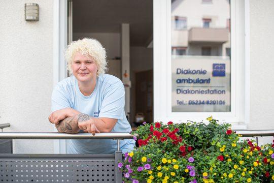 Mitarbeiterin der Diakonie ambulant Horn-Bad Meinberg
